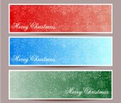Merry Christmas banners set design, vector illustration — Stock vektor