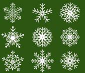 Sneeuwvlokken icoon collectie. vectorvorm — Stockvector