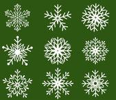 Snowflakes icon collection. Vector shape — Stock Vector