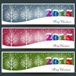 Merry Christmas banners set design, vector illustration — Stock Vector #59769385