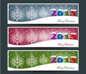 Merry Christmas banners set design, vector illustration — 图库矢量图片