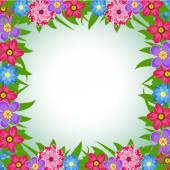 Vector illustration of Spring Flowers — Stock Vector