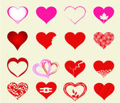 Happy valentines day cards with hearts — Stock Vector