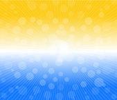 Hot sun lights, abstract summer background vector illustration — Stock Vector