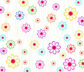 Vector background with flowers — 图库矢量图片