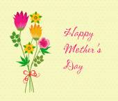 Happy Mothers Day celebration with flower — Vector de stock