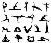 Girl makes yoga exercise — Stock Vector