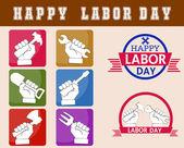 Happy dag van de arbeid — Stockvector