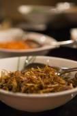 Wok ingredients at Asian restaurant — Stock Photo