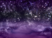 Starry sky in the open space — Stock Photo