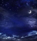 Vacker bakgrund, nattliga himlen — Stockfoto