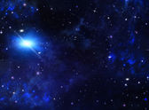 Galaxy,abstract blue background — Stock Photo
