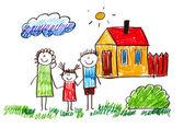 Kids drawing — Stock Photo