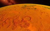 Mars  Scientific illustration -  planetary landscape — Stock Photo