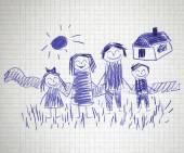Família feliz — Fotografia Stock