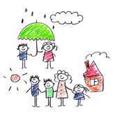 La protezione sociale della famiglia. — Foto Stock