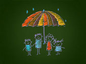 The social protection of the family. — Stock Photo