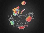 Illustration of School Kids. — Stock Photo