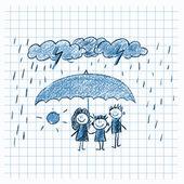 Social protection. Happy family. — Stock Photo