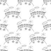 カラフルなシームレス パターン. — ストックベクタ