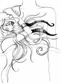 Long haired girl sleeping on her boyfriend's chests — Zdjęcie stockowe