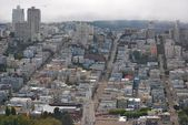 Panoramic view on residential quarters of San Francisco — Stock Photo