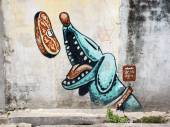 Street Art Painting in Georgetown, Penang, Malaysia — Stock Photo