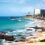 Barra Beach and Farol da Barra in Salvador, Bahia, Brazil — Stock Photo #69752113
