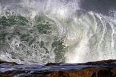 Crashing big wave — Stock Photo