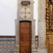 Church interior lateral door — Stock Photo #66861917