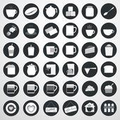 Coffee icon, vector illustration — Stock Vector