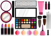 Cosmetics set Beauty instrument vector illustration — Vector de stock