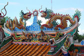 Drakar i templet — Stockfoto