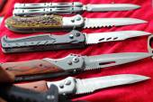 多くの鋭いナイフ. — ストック写真