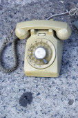 Close up old vintage telephone — Stock Photo
