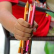 Colorful pencils in hand child — Stock Photo #63679725