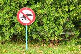 Signs symbolize ban feces dog — Stock Photo