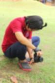 Blurred using a camera to take photo — Stock Photo