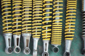 Shock absorber car background texture — Stock Photo