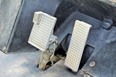 Brake and accelerator pedal for cars. — Stock Photo