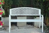 Bench chair in the park — Stock Photo