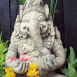 Close up ganesha , made from stucco work — Stock Photo #74026975