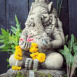 Close up ganesha , made from stucco work — Stock Photo #74026977