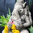 Close up ganesha , made from stucco work — Stock Photo #74028217
