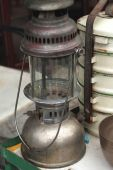 The old kerosene lantern of vintage — Stock Photo