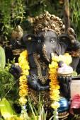 Ganesh 雕像与性质 — 图库照片
