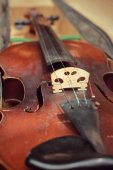 Close-up violin in vintage style — Stock Photo