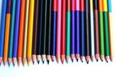 Colorful pencils - isolated on white background — Stock Photo