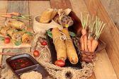 传统的开胃食品炸春卷. — 图库照片