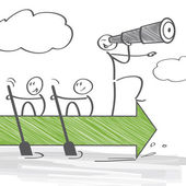 Teamwork and Leadership — Stock Vector